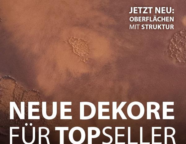 Neuigkeiten: Neue Dekore für TOPSELLER